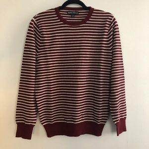 JCrew Striped Burgundy Sweater